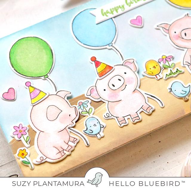 Happy Birthday Piglets close up 1