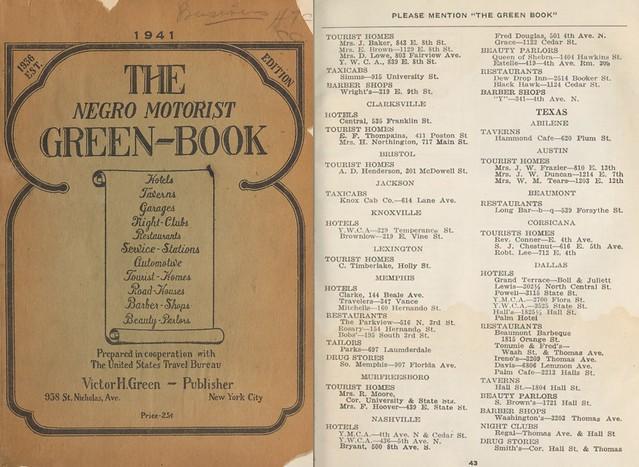 Green Book Dallas 1941 Page 1