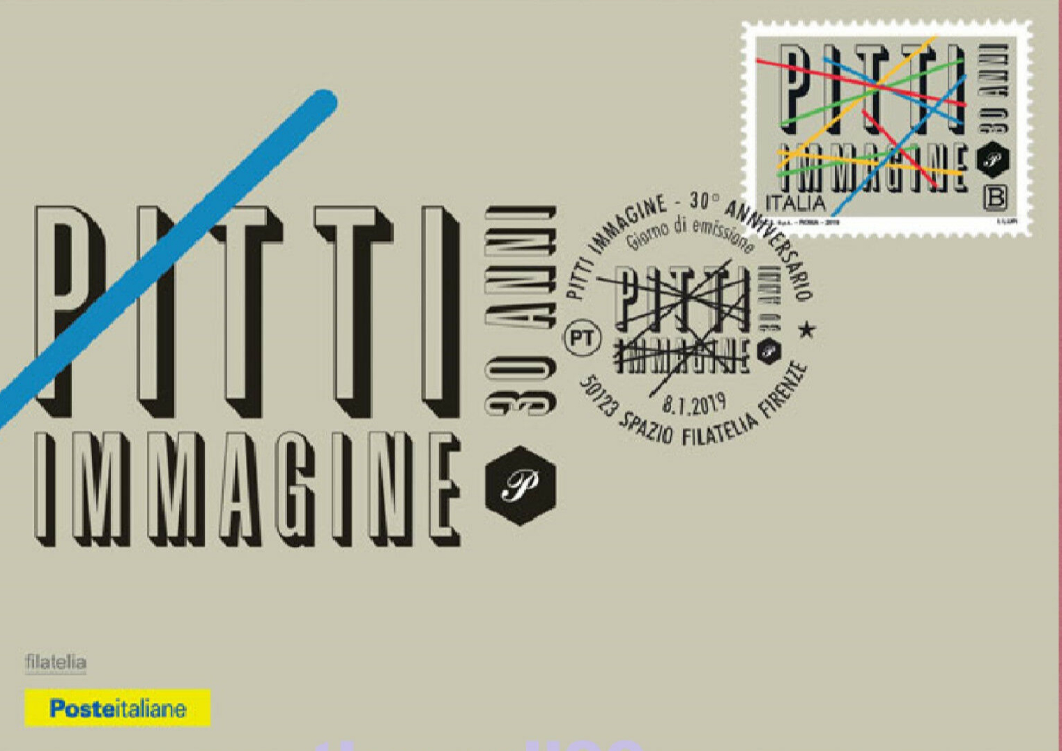 Italy - 30th Anniversary of the Pitti Immagine Foundation (January 8, 2019) first day cover
