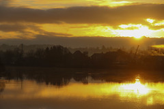 Lever de soleil sur la Saône - Sunset on Saône River