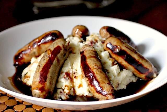 Irish Bangers and Colcannon