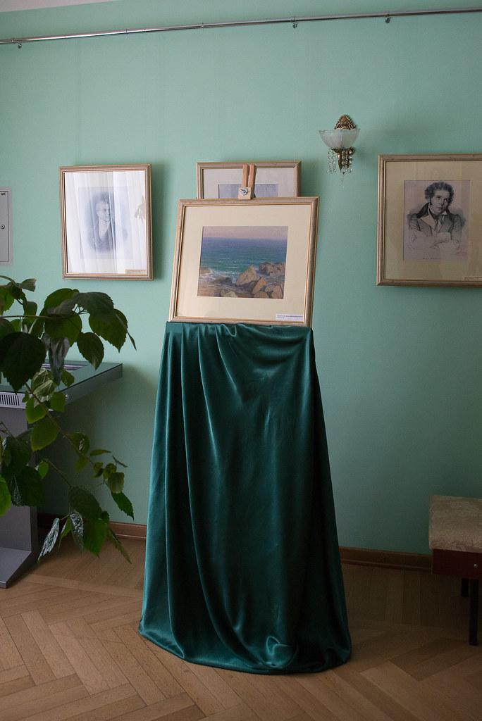 Картина Г.Б. Смирнова «Крым. Прибрежные камни» из фондовой коллекции музея