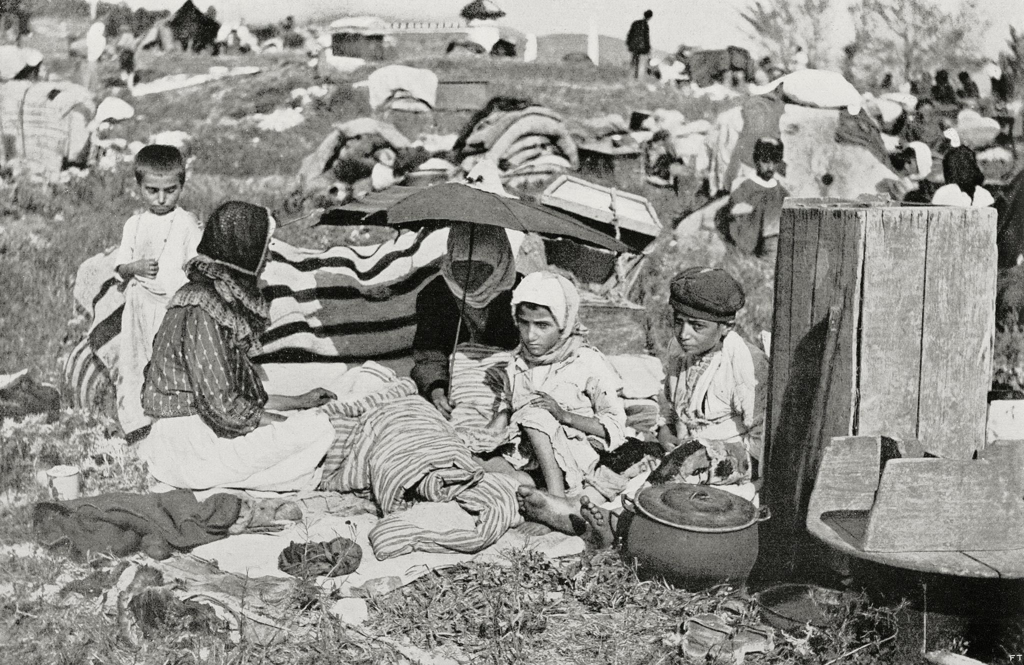 Лагерь беженцев из Поволжья на Кавказ