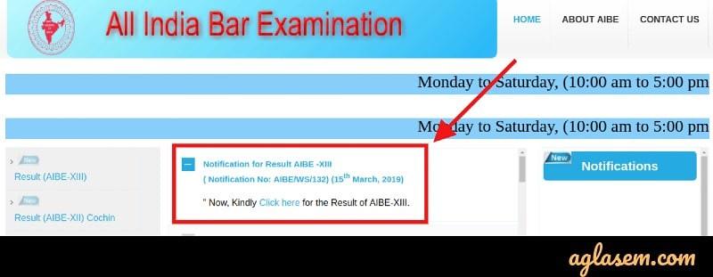 All India Bar Exam Result 2019 Announced