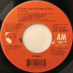 STING:SHAPE OF MY HEART(LABEL SIDE-B)