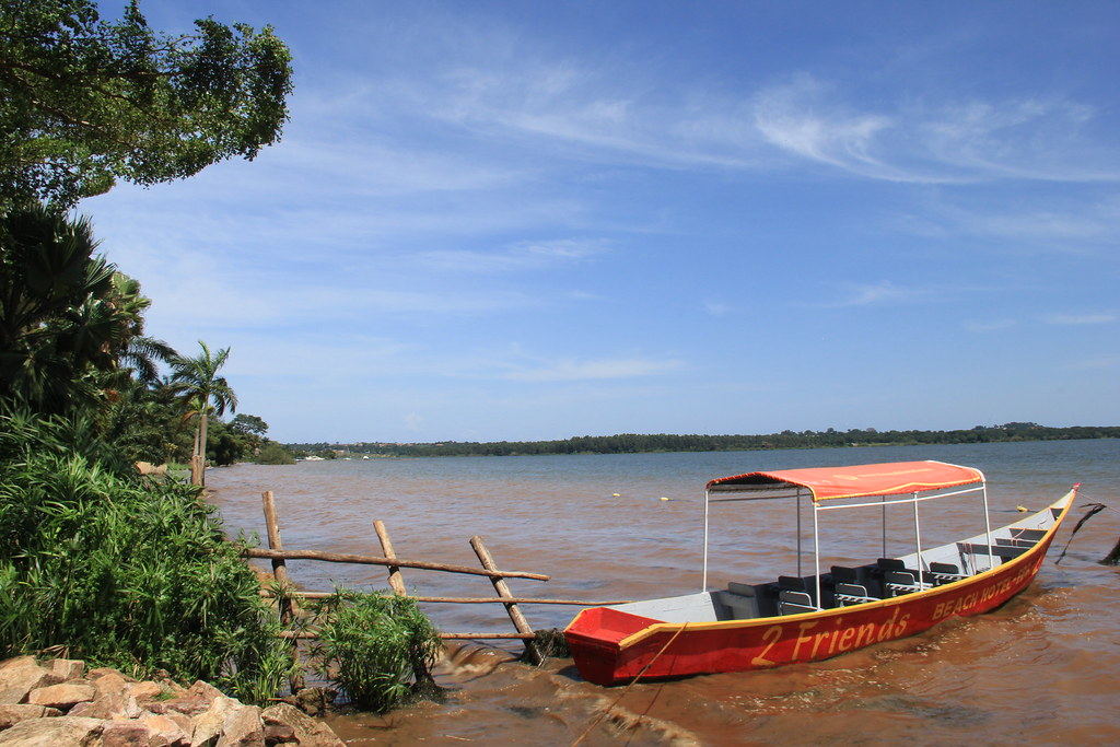 The boat that look us to Lwaji Island, Entebbe