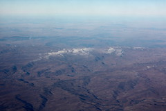 Schnee in den Bergen von Lesotho