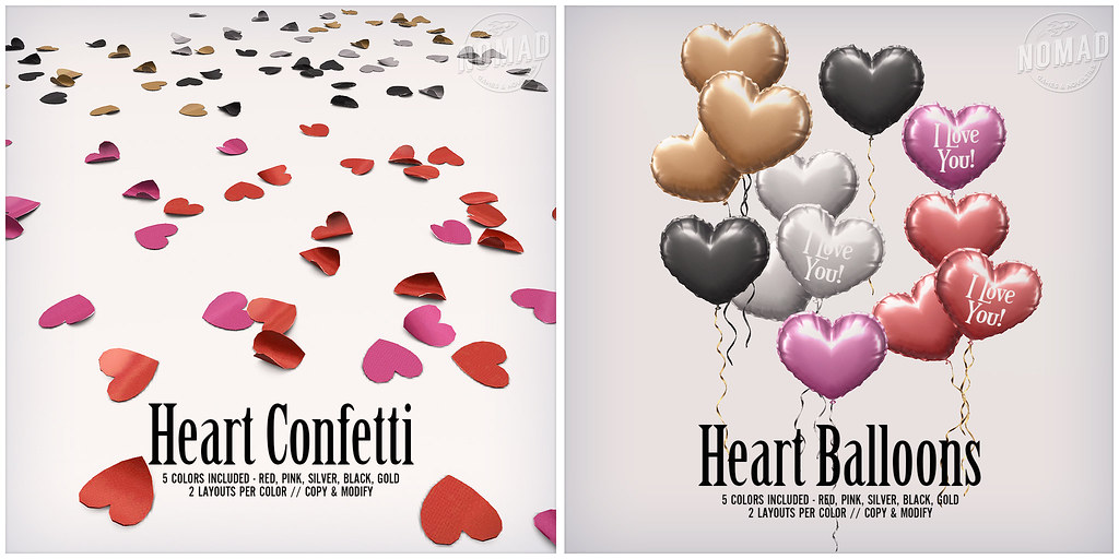 NOMAD // Heart Confetti & Balloons FLF - TeleportHub.com Live!
