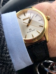 Grand Seiko 18k 9f movement SBGX038