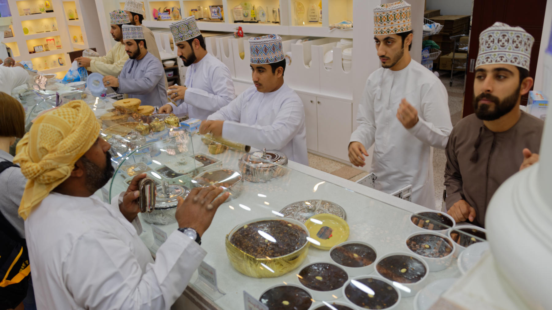 Buying Halwa, Nizwa Souq, Oman