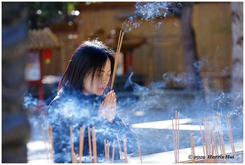 Prayer In The Temple - Buddhist Temple XT6602e