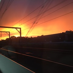 Awesome sunset sky in Sydney