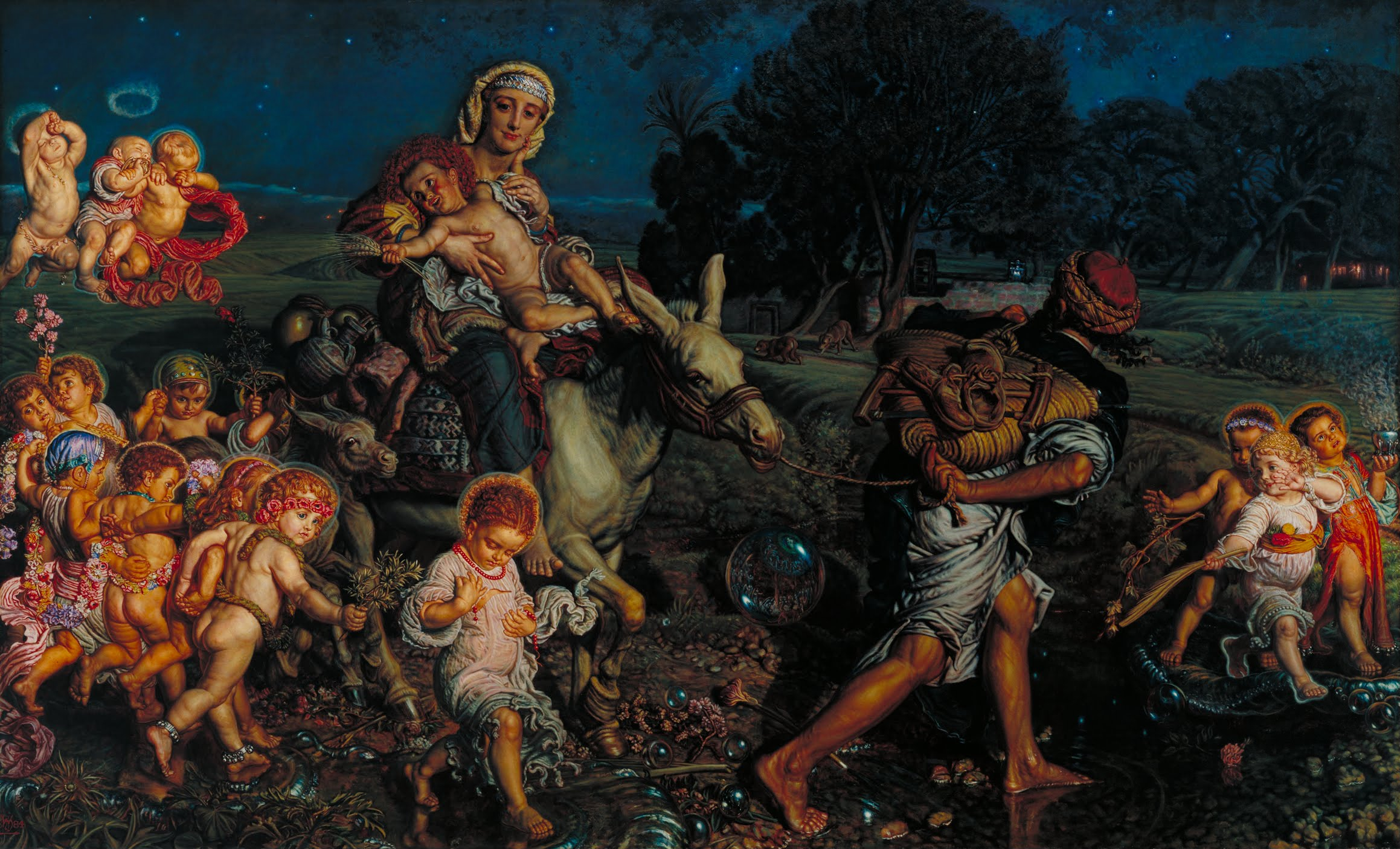 Triumph of the Innocents by William Holman Hunt, oil on canvas circa 1883. Currently in the collection of the Tate Britain (known from 1897 to 1932 as the National Gallery of British Art and from 1932 to 2000 as the Tate Gallery) on Millbank in the City of Westminster in London.