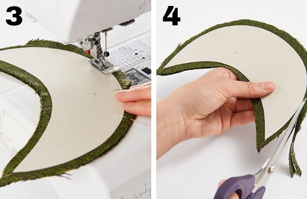 DIY Captains Hat Steps 3 4