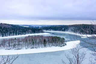 Seč Dam in Winter