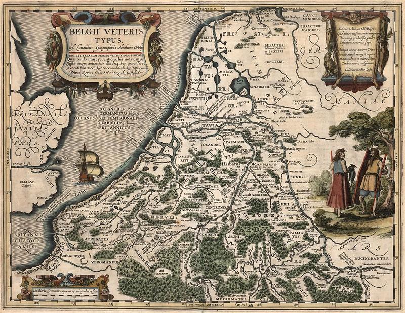 Petrus Bertius - Belgii veteris typus (1619)