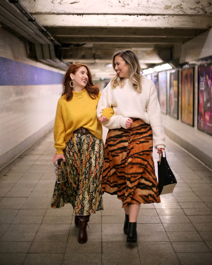 Animal Print Skirts Fashion Outfits Blogger Friends New York