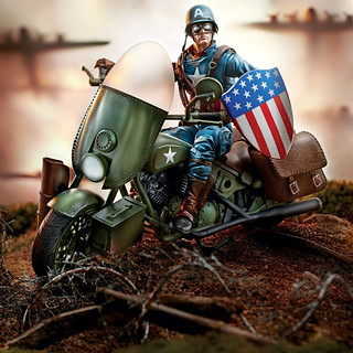孩之寶 漫威傳奇系列 6吋收藏人物與交通載具【美國隊長 二戰版本】Marvel Legends Vehichles 6 Inch Captain America WWII Figure and Vehicle