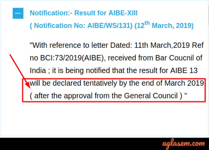 AIBE Result 2019 to be Announced by the End of March; Confirmed by the Officials
