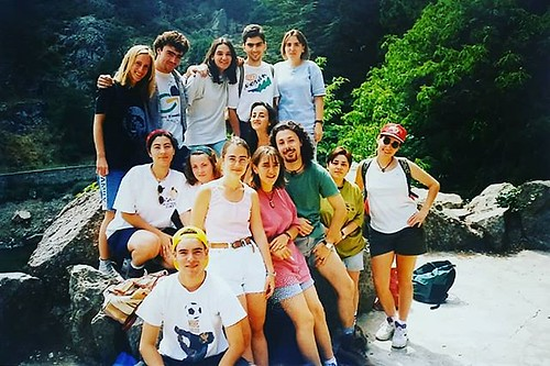En el siglo pasado. Con @castellae en el grupo de locos. 😂 #cuantohemoscaminado #vintagephoto