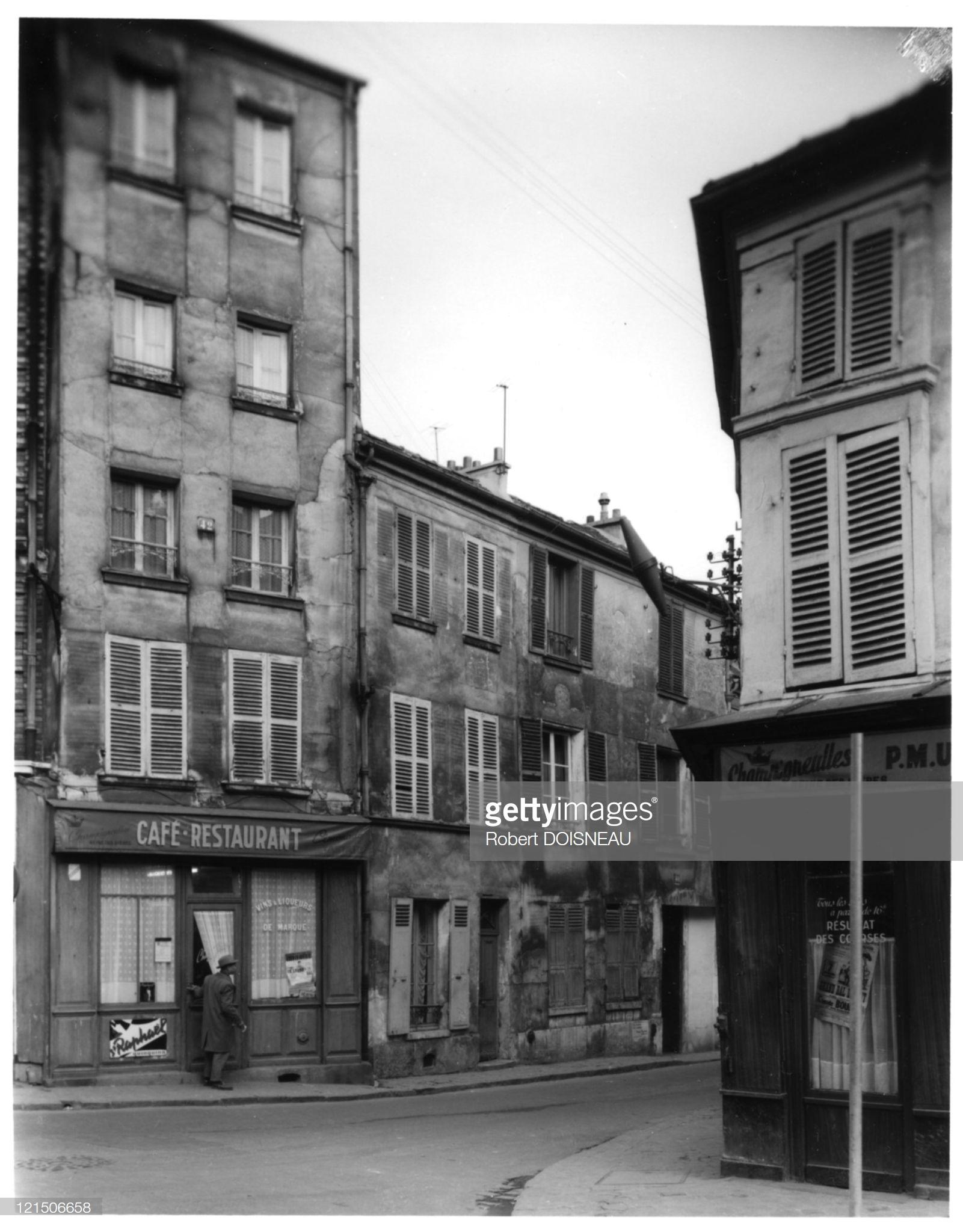 1964. Родной дом Жоржа Брак на улице Отель-Дьё в Аржантёй, Париж