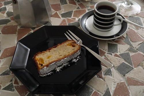 Espresso zum Kanarischen Bananenkuchen