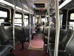 King County Metro RapidRide 2011 New Flyer DE60LFR interior (6031)