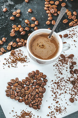 Beautiful coffee background with beans