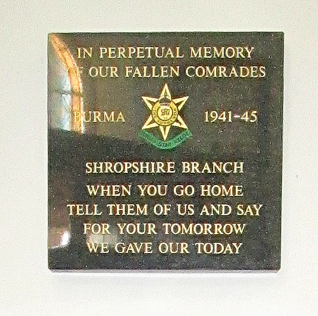 St Chad's, Shrewsbury, Burma Star Memorial