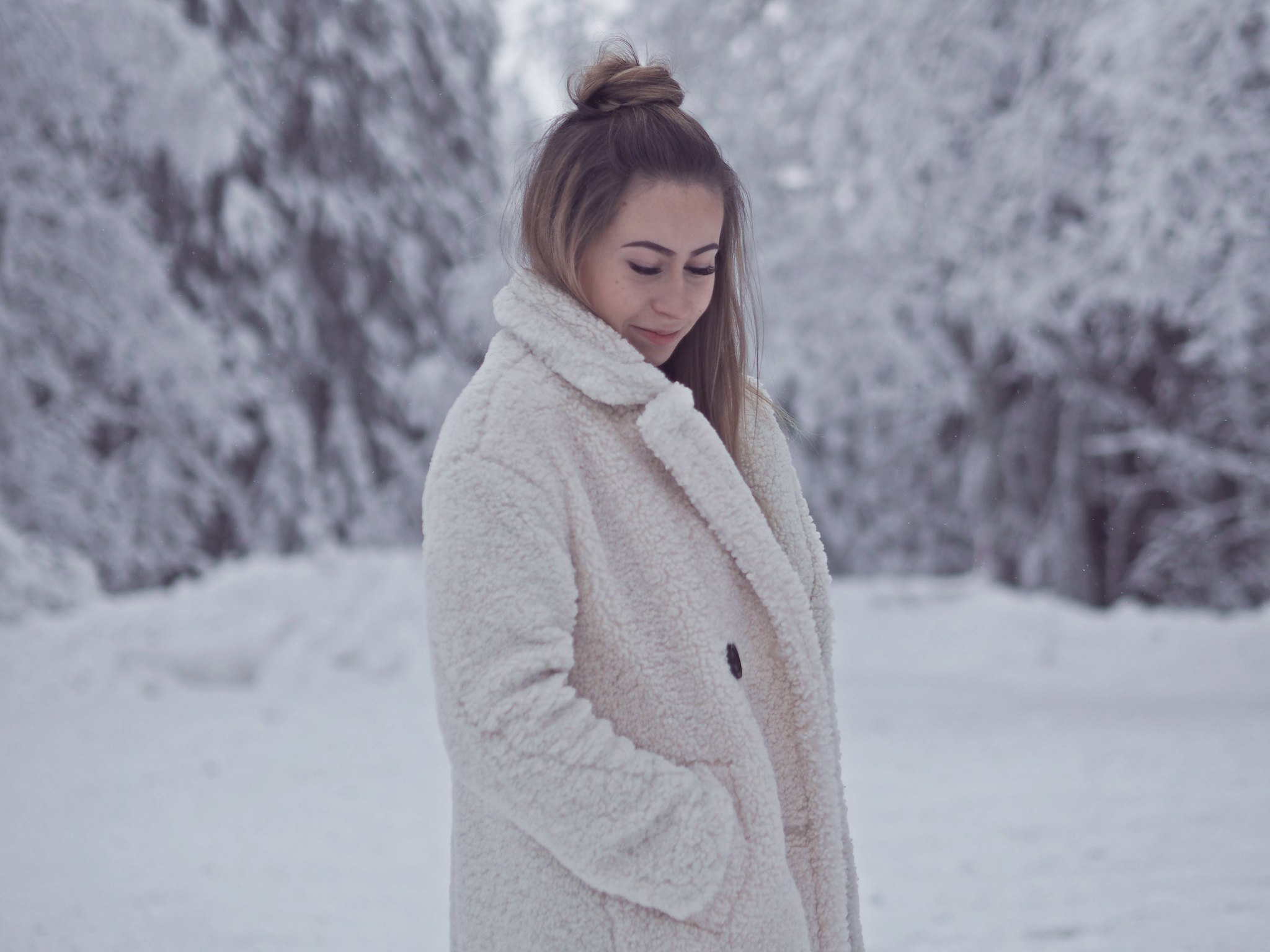 teddy coat outfit ideas winter