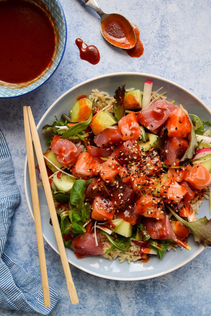 Korean Sashimi Salad