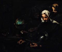 11 - Courbevoie - Musée Roybet Fould - Théodule Ribot, L'esprit et la chère - Chez l'antiquaire, Vers 1890, Huile sur toile