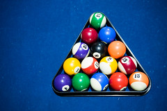 Pool balls and triangle