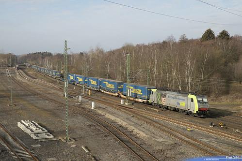 Re 486 503 BLS Cargo . 43593 . Stolberg (Rheinl) Hbf . 20.02.19.