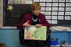 "Rep. Zawistowski celebrated Read Across America Day on Friday, March 1st with Mrs. Wosko's 1st grade class at Spaulding Elementary School. Rep. Zawistowski read a book called ""Wiggles"" about a happy dog that lives on a farm."