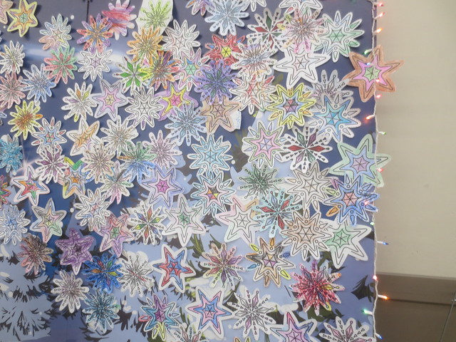 Color a snowflake for charity