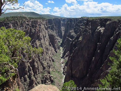 Black Canyon of the Gunnison from Exclamation Point, Colorado
