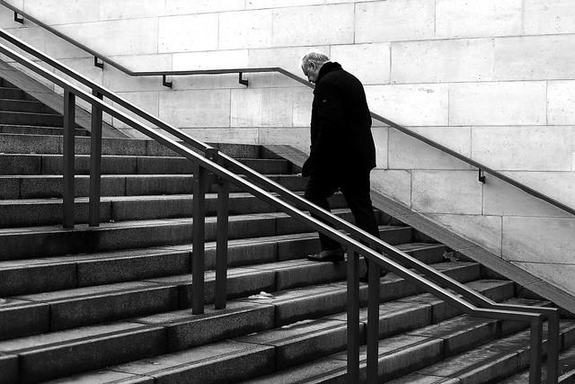 Looking at steps