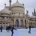 Brighton Royal Pavilion ice skaters