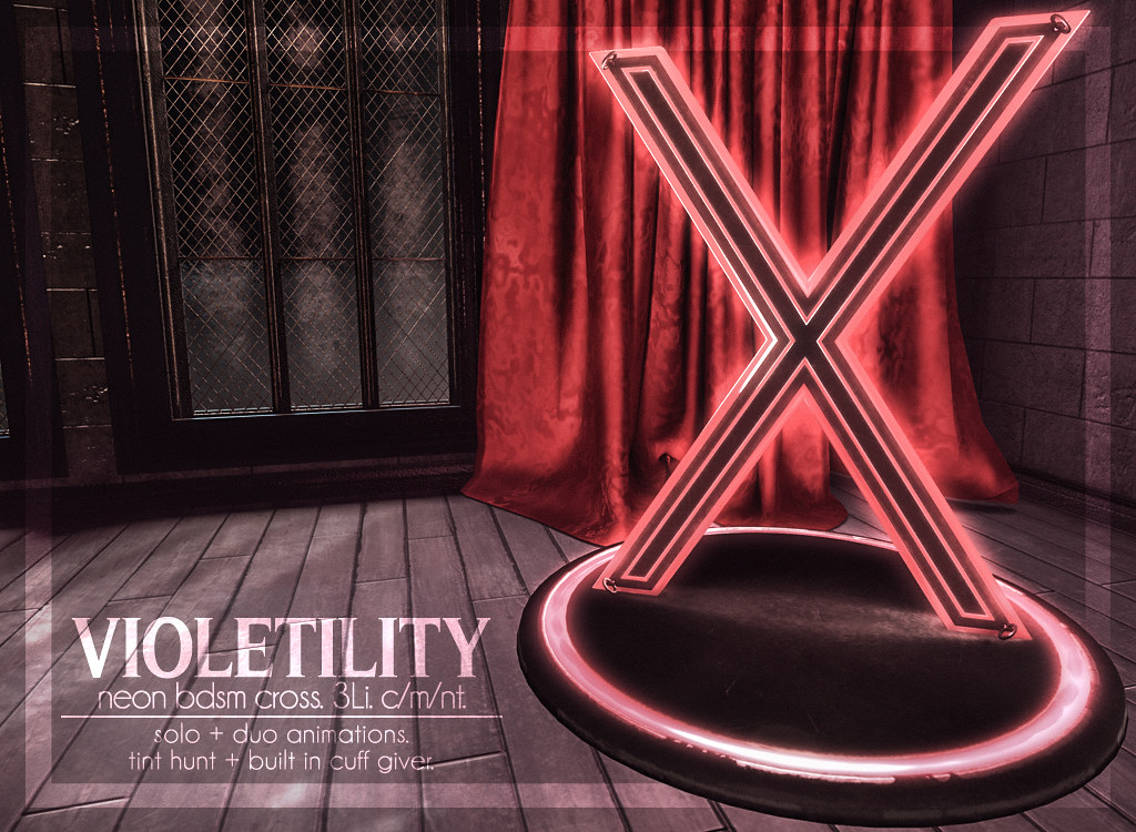 Violetility – Neon BDSM Cross