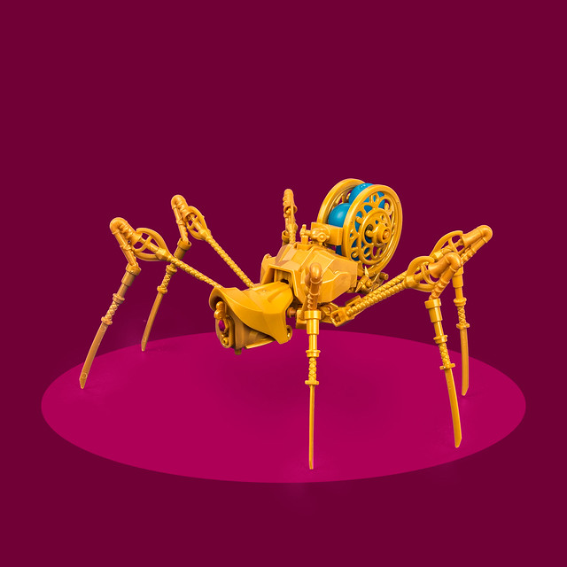 Precious spider has jazzy-looking legs | The Brothers Brick