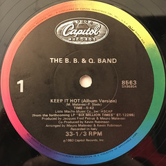 THE B. B. & Q. BAND:KEEP IT HOT(LABEL SIDE-A)