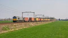 Hulten Class66 DE 6306 met containertrein naar België