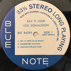 LOU DONALDSON:SAY IT LOUD!(LABEL SIDE-A)