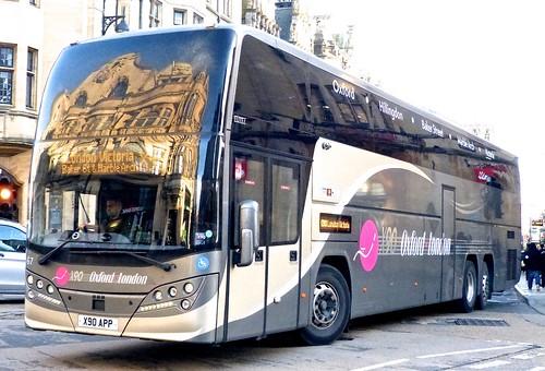 X90 APP 'Oxford Bus Company' No. 67 'X90 Oxford-London'. Volvo B11RT / Plaxton Interdeck on Dennis Basford's railsroadsrunways.blogspot.co.uk'
