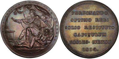 Fernando VII bronze Medal.