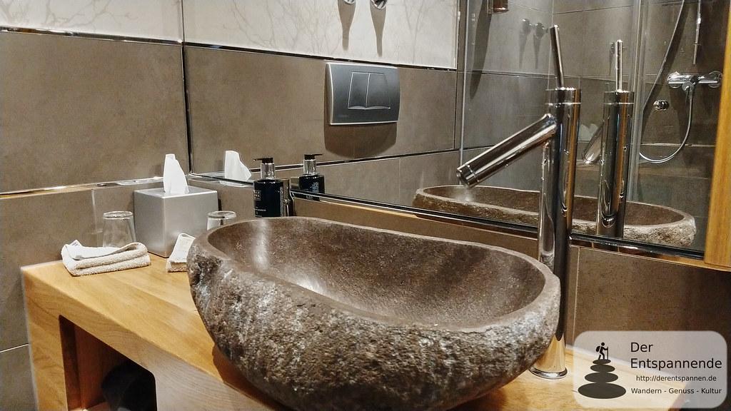 Badezimmer in Nägler's Fine Lounge Hotel