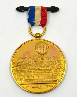 1878 Panorama De Paris Balloon Medal obverse