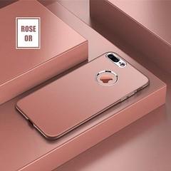 Coque De Luxe En Silicone Avec Finition Chrome Pour iPhone 8 Rose Or