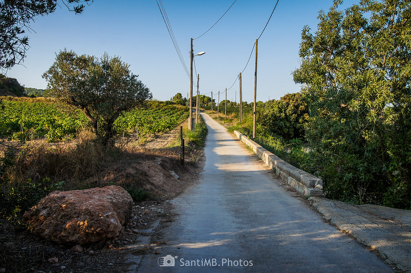 Camino a Castellet desde el Castell de Penyafort